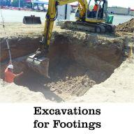 excavations for footings
