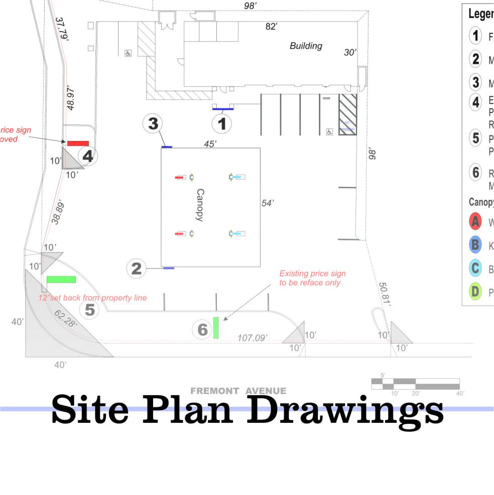 Site Plan Drawings AA SIGN IMAGE INC – Site Drawings For Site Plan